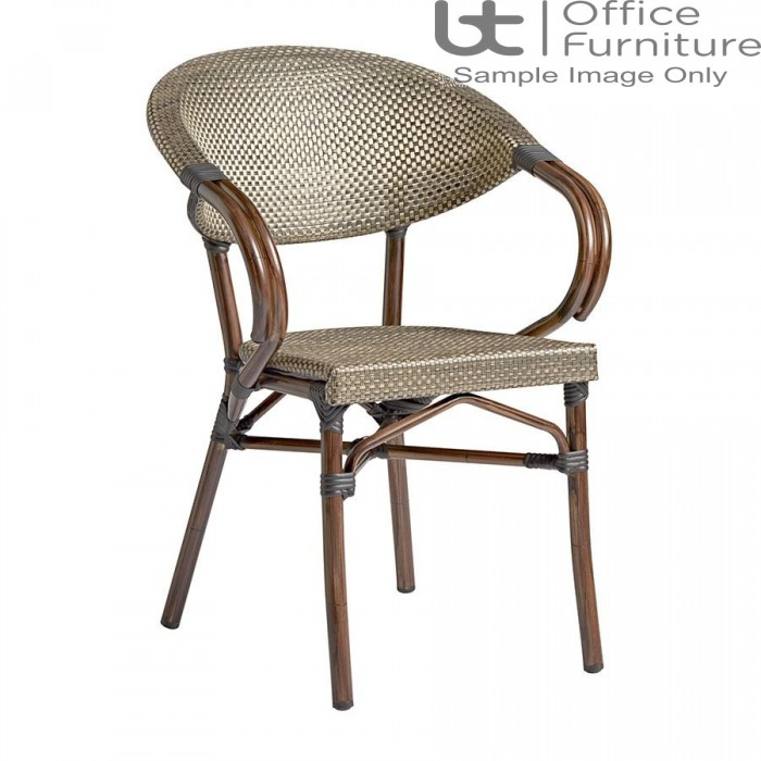 ZP PANDA Arm Chair – Black and Gold Weave