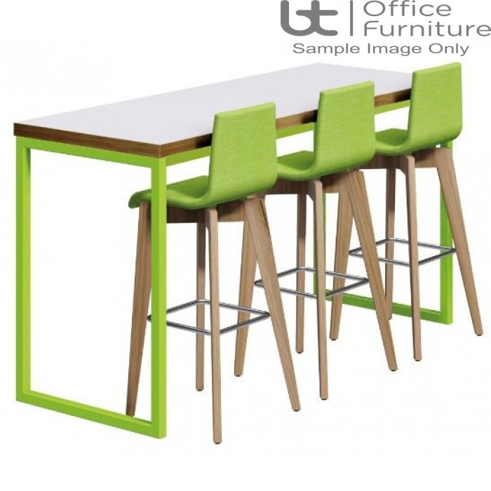 Urban 40/40 Robust 25mm Laminate Top School Bench Dining Poseur Table W2200mm (Premium Frame Colours)
