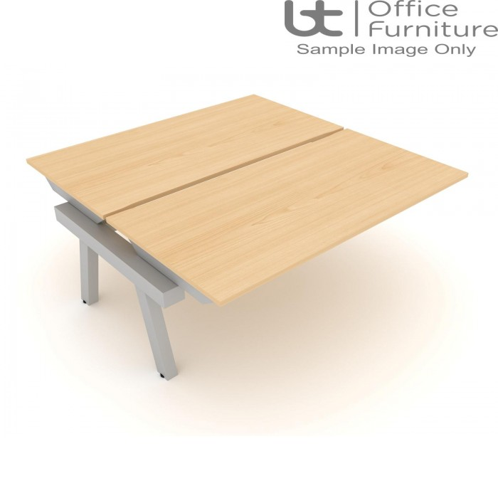 Elite Linnea Elevate Fixed Height Double Bench with Shared Inset Leg*