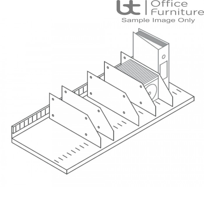 Steel Slotted Shelf with 5 x Vertical Dividers
