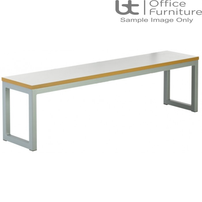 City 40/40 Robust 40mm Laminate Top School Bench Seat W1100mm (Std Frame Colours)