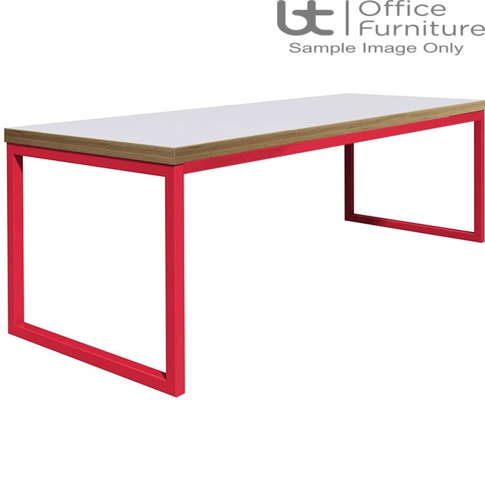 Urban 40/40 Robust 25mm Laminate Top School Bench Dining Table W1800mm (Premium Frame Colours)