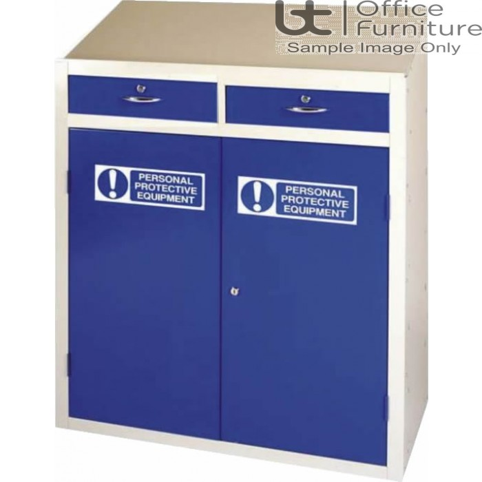 PPE Workstation with Double Locking Drawer