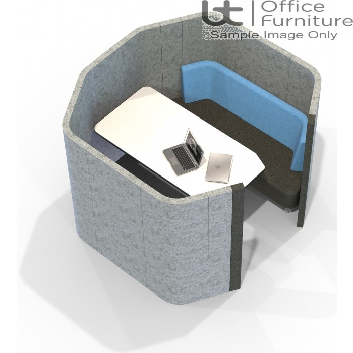 Acoustic Social - 4 Person Octagonal Pod/Booth Including Table (3 Height Options)