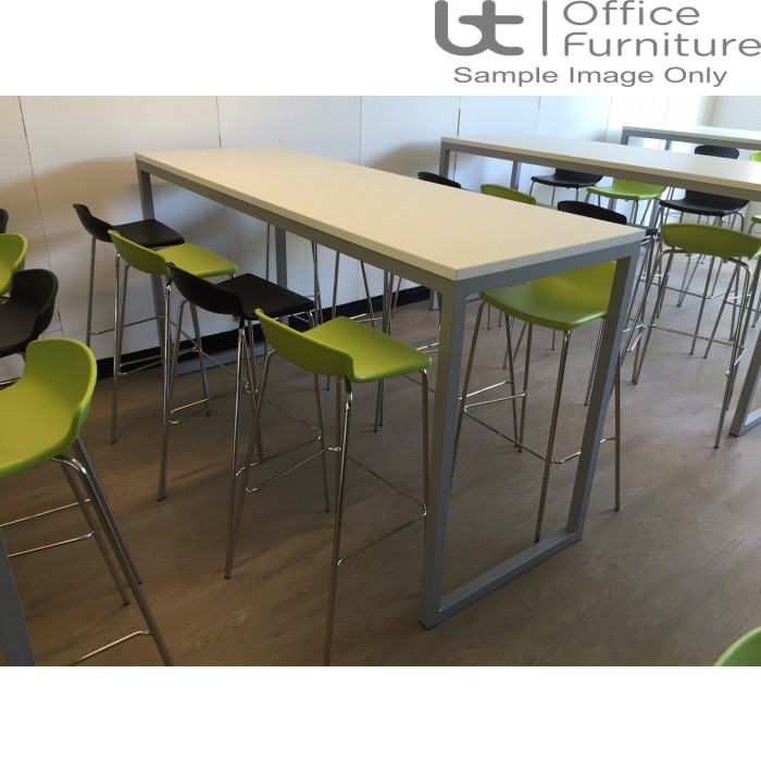 Urban 40/40 Robust 25mm Laminate Top School Bench Dining Poseur Table W1500mm (Std Frame Colours)