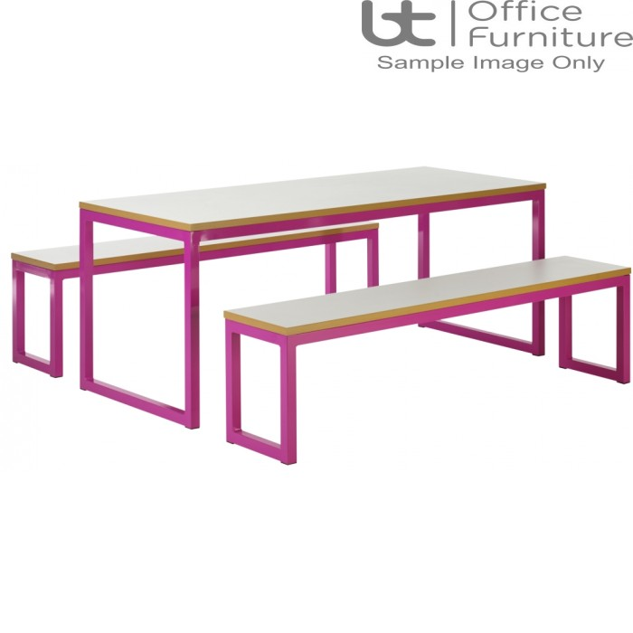 City 40/40 Robust 40mm Laminate Top School Bench Dining Sets W1200mm (Premium Frame Colours)