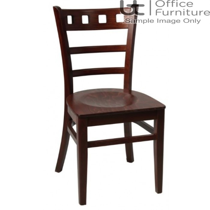 Enzo Walnut with Wooden Seat & Optional Seat Pad