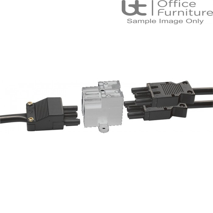 Cable Accessories - White Extended splitter block, 1 GST input, 3 GST outputs