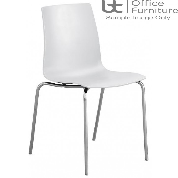 Stanza White Cafe/Bistro/Canteen Chair