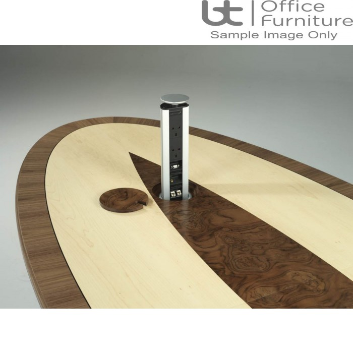 Wire Management for the Aerofoil Base Boardroom Tables
