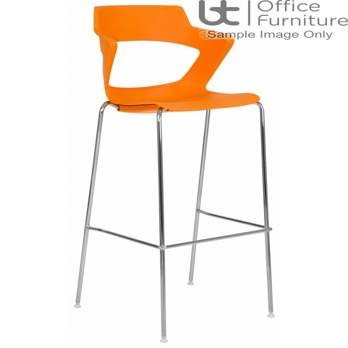 Elite Breakout Stools - Zen Chrome Frame 4 Legged Bar Stool Chairs with Fabric Options