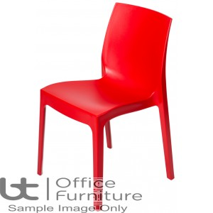 Strata Red Cafe/Bistro/Canteen Chair