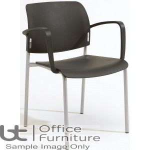 Verco Visitor / Conference Seating - Add 4 legged Plastic Stacking Chair with Arms