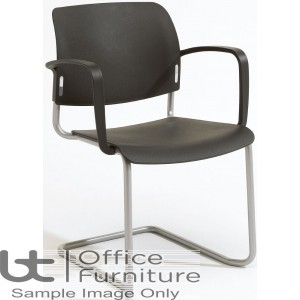 Verco Visitor / Conference Seating - Add Cantilever Plastic Stacking Chair with Arms