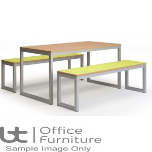 City 40/40 Robust 40mm Laminate Top School Bench Dining Sets W1800mm (Std Frame Colours)