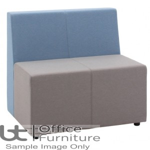 Verco Soft Seating - Box-It Landscape Double Unit with a Single Back