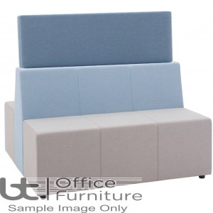 Verco Soft Seating - Box-It Landscape High Screen for Treble Seat