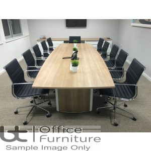 Elite Aerofoil Table - Boardroom Table Seats Up-To 14 People