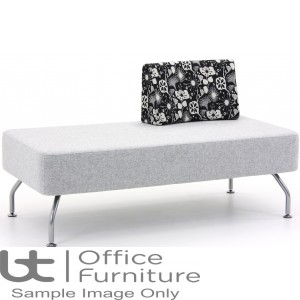 Verco Soft Seating - Brix Two Seater Unit with a Single Back (C)