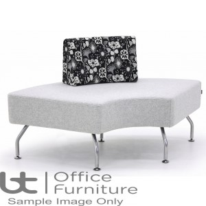 Verco Soft Seating - Brix 90 Degree Curved Single Unit with a Single Back