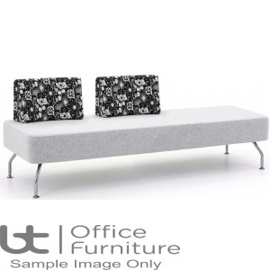 Verco Soft Seating - Brix Three Seater Unit with a Two Backs (AC)
