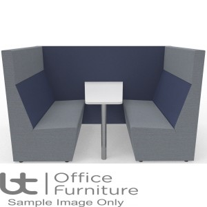 Ziggie High Back 4 Person Meeting Booth with Table - made to order