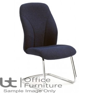 Verco Visitor / Conference Seating - Select 24 Medium Back Chrome Cantilever Frame Chair