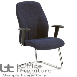 Verco Visitor / Conference Seating - Select 24 Medium Back Chrome Cantilever Frame Adjustable Armchair
