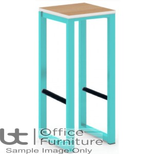 City 40/40 Robust 40mm Laminate Top School Bench Dining High Stool (Premium Frame Colours)