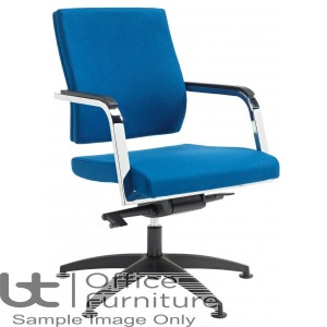 Verco Executive seating - Vibe Fully Upholstered Medium Back Conference Chair with Arms