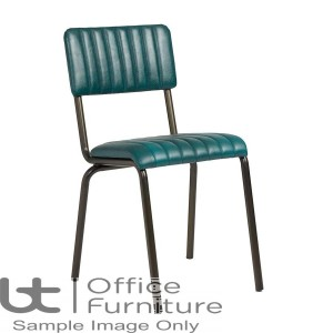 ZP CORE Ribbed Side Chair – Lascari Vintage Teal