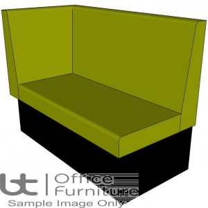 Dining Bench / Single Booth Left Hand Return Seating - 1200 & 1600mm Wide Options