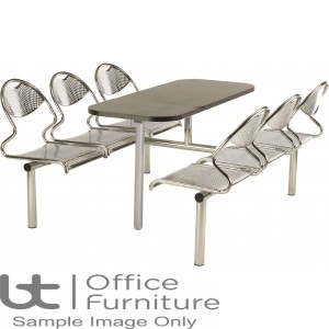 Flight 6 Seat Modular Canteen Fast food Unit (Seat: Chrome only)