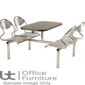Flight 4 Seat Modular Canteen Fast food Unit (Seat: Chrome only)