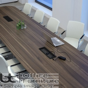 Elite Linnea Table - Double D Ended Conference Table - Seats 6 People