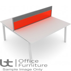 Elite Bench System Screen with Management Rail - Acrylic