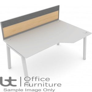 Elite Linnea System Screen - MFC Screen with Management Rail For Single Desk