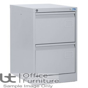 Silverline Executive 2 Drawer Filing Cabinet