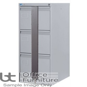 Silverline Executive 3 Drawer Filing Cabinet + Security Bar