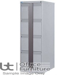 Silverline Executive 4 Drawer Filing Cabinet + Security Bar