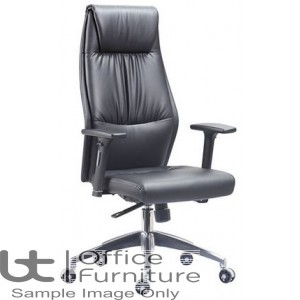 Aurora Seating High Back Black Faux Leather Executive Armchair