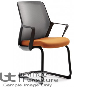 Verco Operator/Task Chair - Flow Medium Back Visitor Chair with Arms
