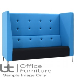 Verco Pod/Booth - Jensen-Up Three Seater Sofa with High Acoustic Surround