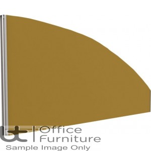 Innovate Venice Fabric Desk Mounted Arc Screen 480-50mm High - Linking
