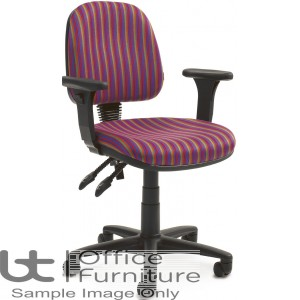 Verco Operator/Task Chair - Look Medium Back Chair with Adjustable Arms