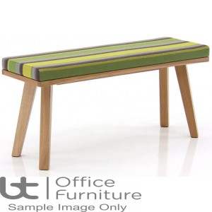 Verco Multi Pupose Seating - Martin Fully Upholstered Low Level Bench + Wood Edging
