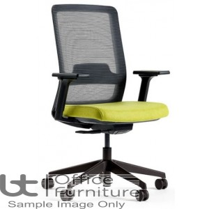 Verco Operator/Task Chair - Max High Back Task Chair with Adjustable Arms