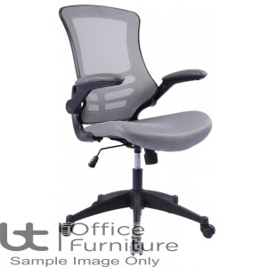 Aurora Seating - High Back Mesh Operator Chair in Grey with Black Shell
