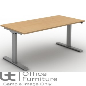 Move Electric Rectangular Height Adjustable Sit-Stand Desk - Square Corners to Tops