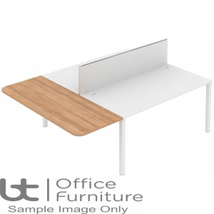 Elite Matrix Table - Straight Extension with Acoustic Dividing Screens